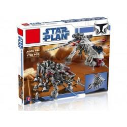 Конструктор King 81055 Десантный Корабль с AT-OT Шагоходом, ранее Lepin 05053 | аналог Lego Star Wars 10195