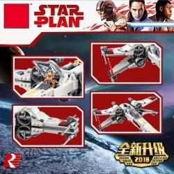 Конструктор 81090 King&Queen Звёздный истребитель X-wing (ранее - Lepin 05145), копия Lego 75218 Star Wars