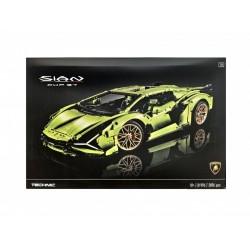 Конструктор King 81996, Lamborghini Sian FKP 37 Green 2020, Technic I аналог Lego 42115
