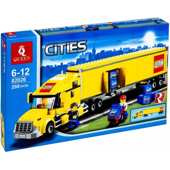 Конструктор 82026 King&Queen Грузовик трейлер (ранее - Lepin 02036), копия Lego 3221 City