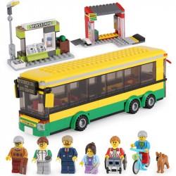 Конструктор 82053 King&Queen Автобусная остановка (ранее - Lepin 02078), копия Lego 60154 City