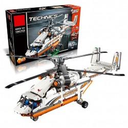 Конструктор 90002 KING&QUEEN Грузовой вертолет (бывший Lepin 20002), аналог Lego Technic 42052