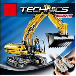 Конструктор KING 90007 Technics Экскаватор с электромотором и пультом управления, бывший 20007 Lepin / копия Lego 8043 Technic