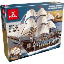 Конструктор King 83038 Флагманский трехмачтовый корабль, бывший Lepin 22001, аналог Lego 10210