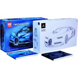Конструктор Lepin 20086 Бугатти Широн (Bugatti Chiron) синий (KING&QUEEN 90056), аналог Lego 42083 Technic / Лего Техник