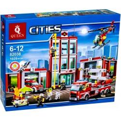 Конструктор KING 82038 Пожарная часть, бывший Lepin 02052, копия Lego 60110 City