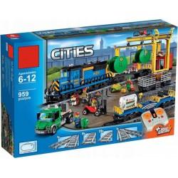 Конструктор Cities Грузовой моторизированный поезд 40014 (180027, 60052, 02008)