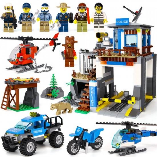 Конструктор 180036 Lion King Полицейский участок в горах (бывший Lepin 02097), аналог Lego City 60174