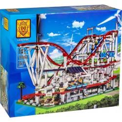Конструктор Lion King 180068 Американские горки в парке развлечений — Roller Coaster, бывший Lepin 15039 / Аналог Lego 10261