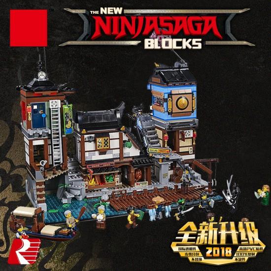 Конструктор Lion King 180093 Порт Ниндзяго Сити, бывший Lepin 06083 / Аналог Lego 70657