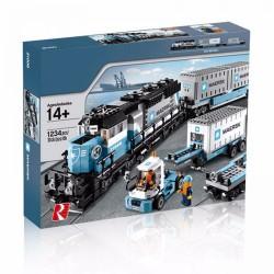 Конструктор Грузовой Поезд Маерск Lion King 180108, бывший Lepin 21006| аналог Lego City 10219
