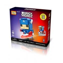 """Конструктор LOZ 1401 BrickHeadz Супергерои """"Капитан Америка"""" MINI Blocks"""