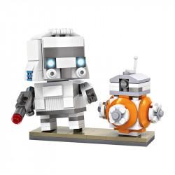 """Конструктор LOZ 1502 - BrickHeadz Star Wars """"Штурмовик и дроид BB-8"""""""