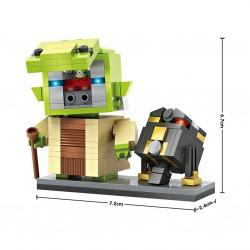 "Конструктор LOZ 1504 - Star Wars BrickHeadz ""Мастер Йода и дроид R2-Q5"""
