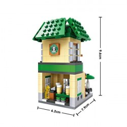 """Конструктор LOZ 1608 - Street Mini """"Кофейня """"Starbucks"""""""