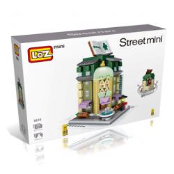 """Конструктор LOZ 1624 - Street Mini """"Книжный магазин"""""""