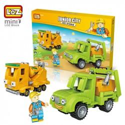 "Конструктор LOZ 1816 - Mini Block Junior City 2 в 1 ""Бетономешалка и самосвал"""
