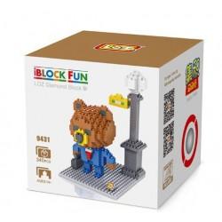 """Конструктор LOZ 9431 Diamond Block iBlock Fun """"Коричневый медведь рабочий"""""""