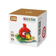 "Конструктор LOZ 9512 Angry Birds Diamond Block iBlock Fun ""Красная птица"""