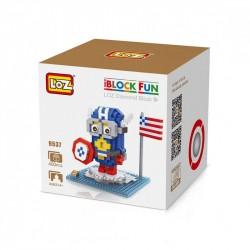 """Конструктор LOZ 9537 Diamond Block iBlock Fun """"Миньон Капитан Америка"""""""
