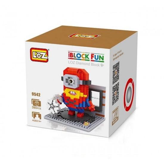 "Конструктор LOZ 9542 Diamond Block iBlock Fun ""Миньон Человек-паук"""