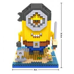 """Конструктор LOZ 9607 Diamond Block iBlock Fun """"Миньон пират"""""""