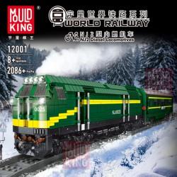 Конструктор Mould King 12001 Дизельный тепловоз NJ2 c ДУ