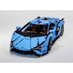 Конструктор Mould King 13056s Lamborghini Sian FKP 37 Blue Version RC APP Technics, 13056b, 42115