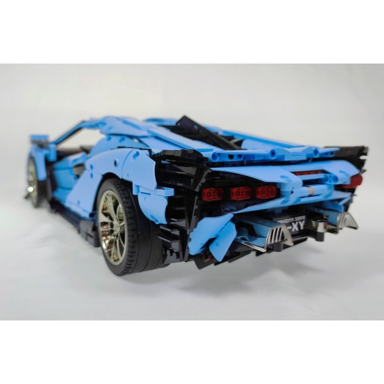 Конструктор Mould King 13056s Lamborghini Sian FKP 37 Blue Version RC APP Technics, 13056b, 42115