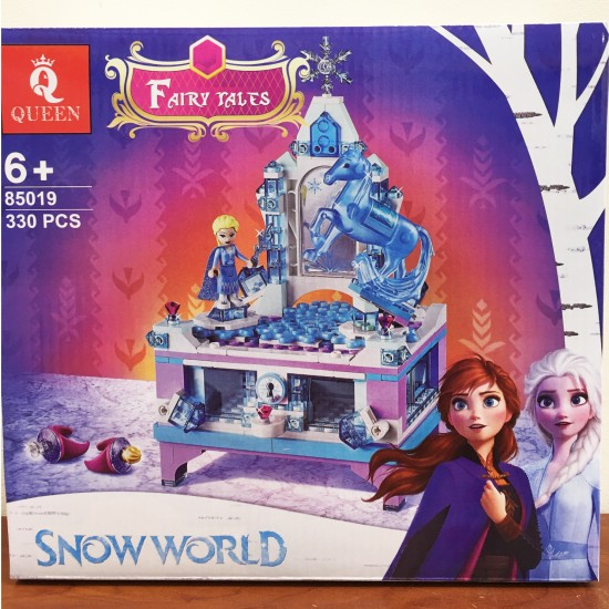 Конструктор 85019 King&Queen Шкатулка Эльзы, копия Lego 41168 Disney Princess