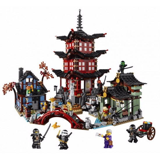 Конструктор Lion King 180088 Храм Аэроджитцу — Храм Воздуха (бывший Lepin 06022), аналог Lego Ninjago 70751