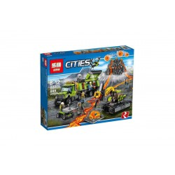 Конструктор Lepin 02005: City База исследователей вулканов (аналог Lego 60124)