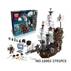 Конструктор Lepin 16002 Пираты Корабль Стальной Бороды, аналог Lego 70810