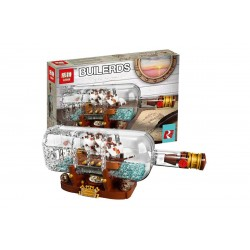 Конструктор Lepin 16051 Корабль в бутылке | аналог Lego Ideas (Айдиас) 21313