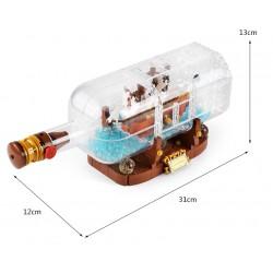 Конструктор KING QUEEN 83029 Корабль в бутылке, бывший Lepin 16051 | аналог Lego Ideas (Айдиас) 21313