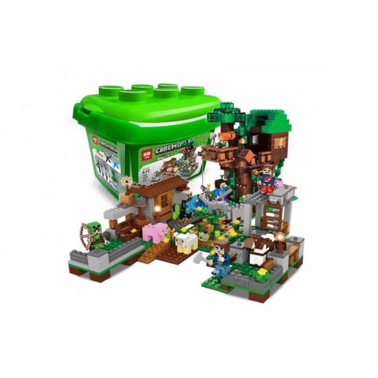 Конструктор Lepin 18031 Дом на дереве в джунглях, копия Lego 21125 Minecraft