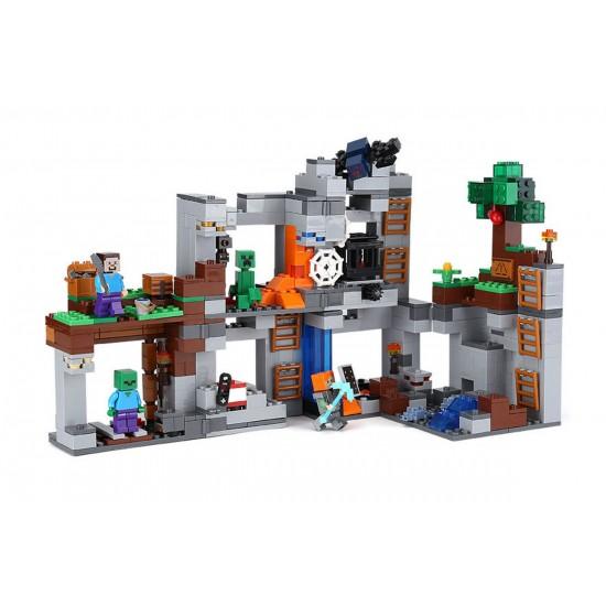 Конструктор Lepin 18042 Приключения в шахтах, Аналог Lego 21147, Minecraft Майнкрафт