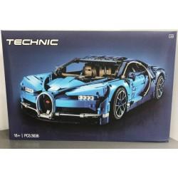 Конструктор Lepin 20086 Бугатти Широн (Bugatti Chiron) синий (KING QUEEN 90056), аналог Lego 42083 Technic / Лего Техник