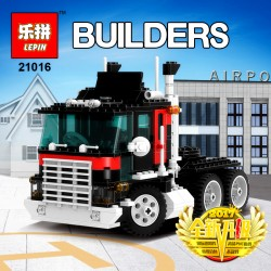 "Конструктор Lepin 21016 ""Супер Тягач с прицепом и вертолетом""   аналог Lego Technic 5590"