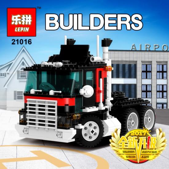 "Конструктор Lepin 21016 ""Супер Тягач с прицепом и вертолетом"" | аналог Lego Technic 5590"