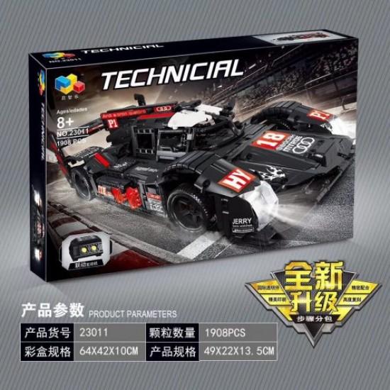 Конструктор Lepin 23011, Audi R18 E-Tron Quattro (мотор не идет в комплекте), серия Technic, Qizhile