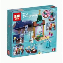 Конструктор Lepin 25015 Disney Приключения Эльзы на рынке, Холодное сердце, аналог Lego 41155