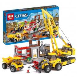 Конструктор Lepin 02042 Снос старого здания, копия Lego 60076 City