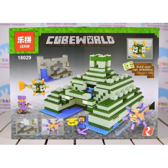 Конструктор Lepin 18029 Подводная крепость, копия Lego 21136 Minecraft